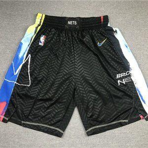 Brooklyn Nets black NBA shorts
